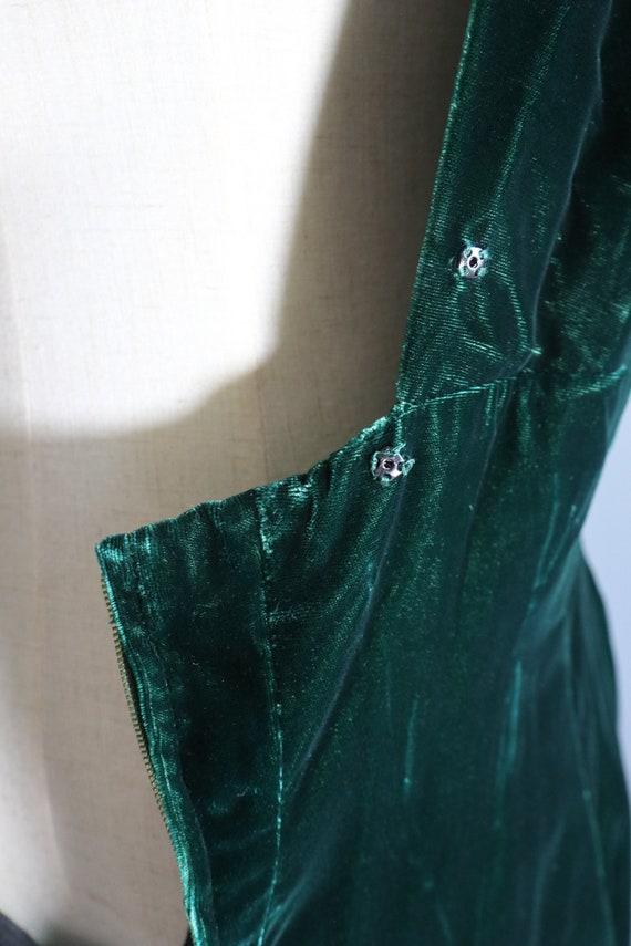 SALE | Emerald Green 1970s Dress | 70s dress 1970… - image 4