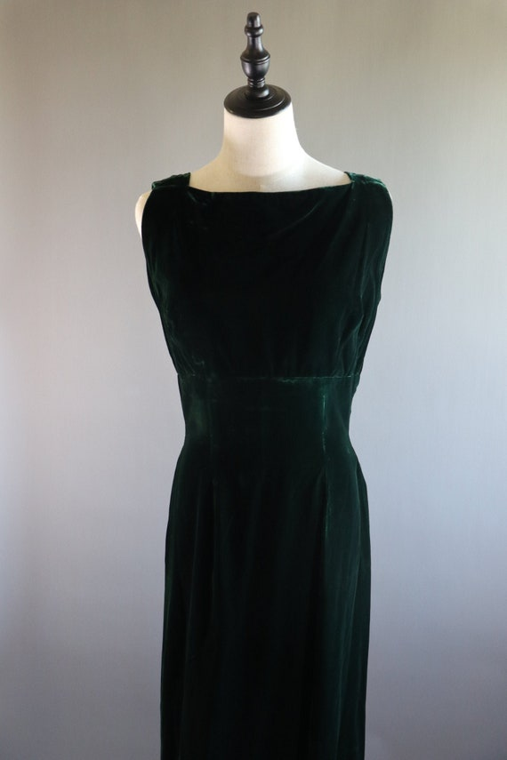 SALE | Emerald Green 1970s Dress | 70s dress 1970… - image 3