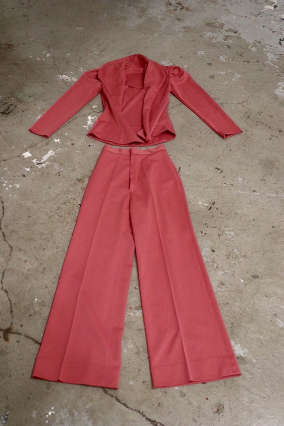 SALE | Midcentury Rose Pant Suit | vintage pant su