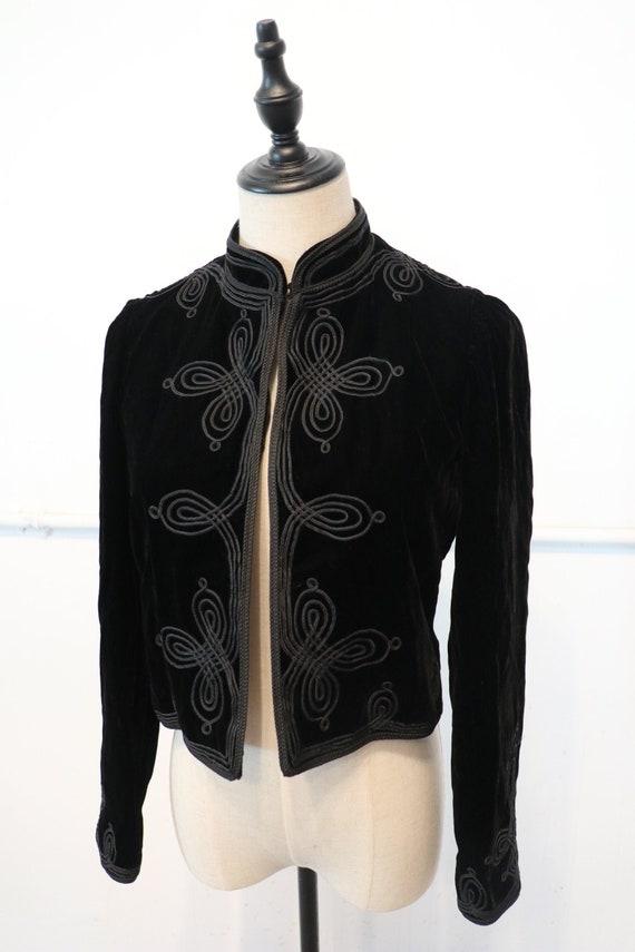 Designer Gloria Sachs 80s Velvet Blazer | 1980s bl