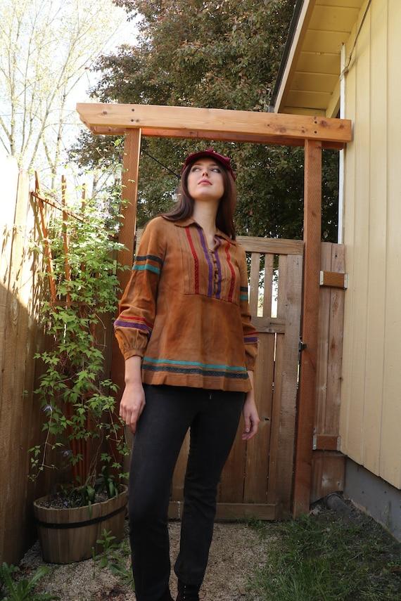 SALE | 70s suede shirt | hippie shirt San Francisc