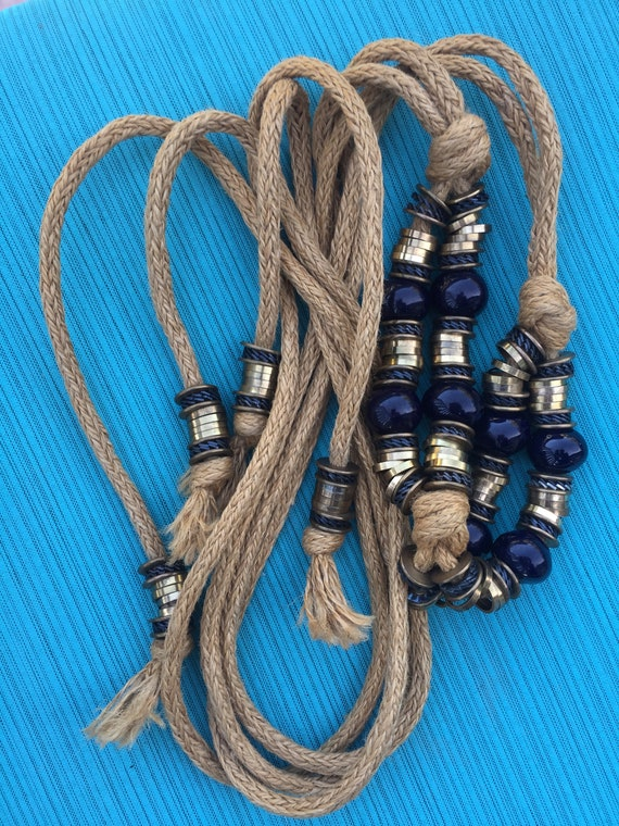 SALE | Large Beaded Vintage Harness Belt | burlap