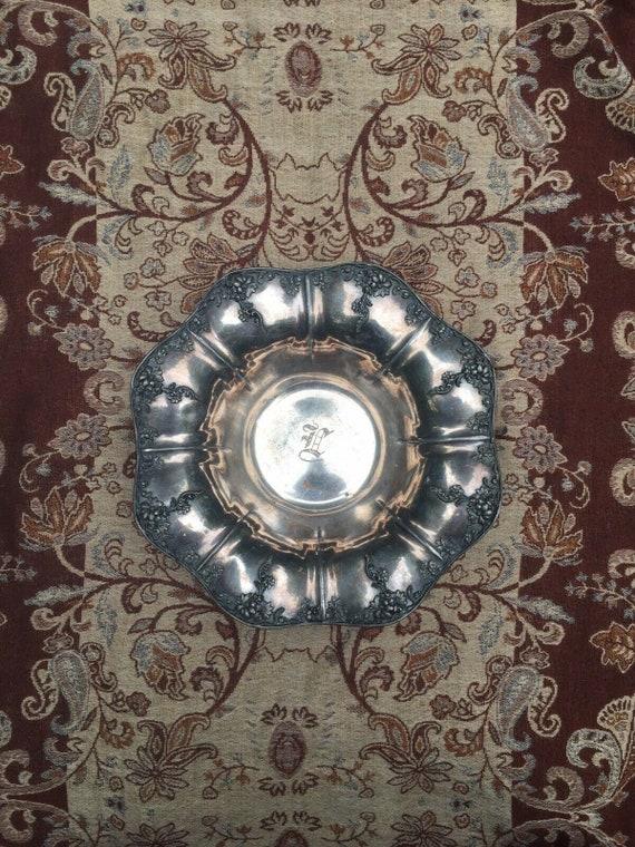 Antique Victorian Silver Dish c. 1880s | victorian