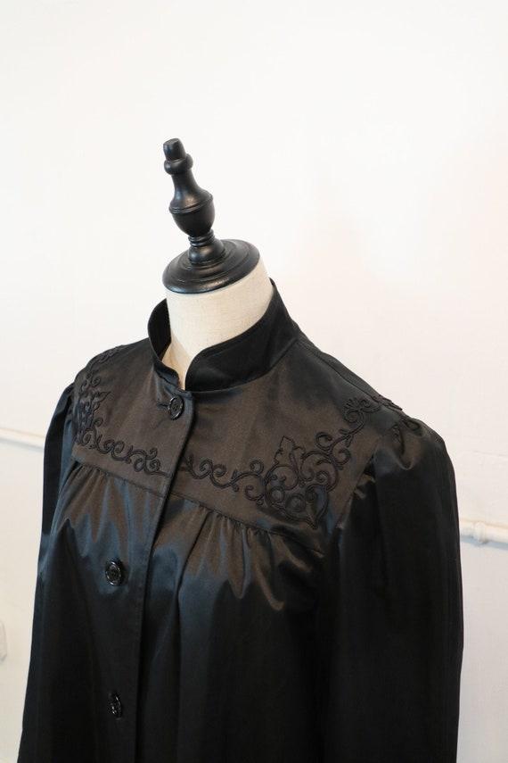 70s Raincoat   1970s raincoat black jacket jet bla