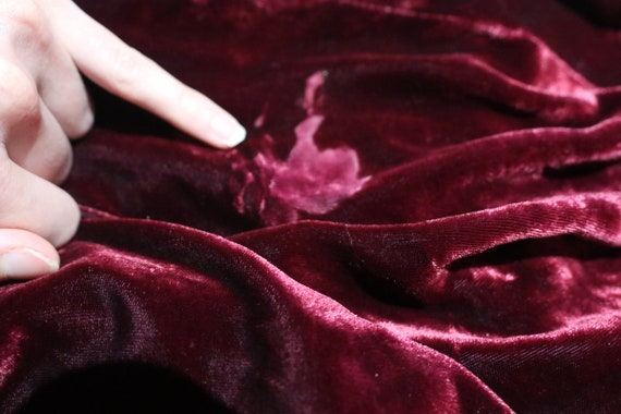 SALE | Sumptuous c. 1930s Handmade Velvet and Sil… - image 10