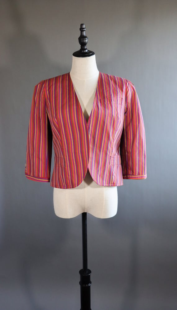 1980s Circus Neiman Marcus Blazer | striped blazer