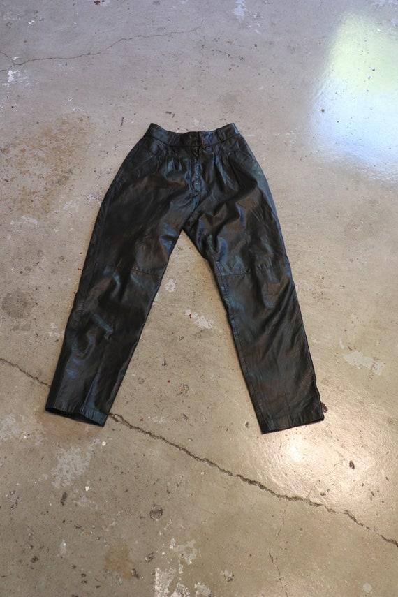 1980s Joan Jett High Waiste Leather Pants | 80s le