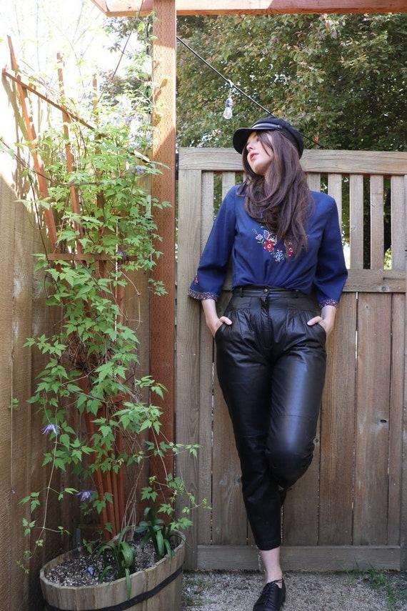 SALE | 1980s Joan Jett High Waiste Leather Pants |