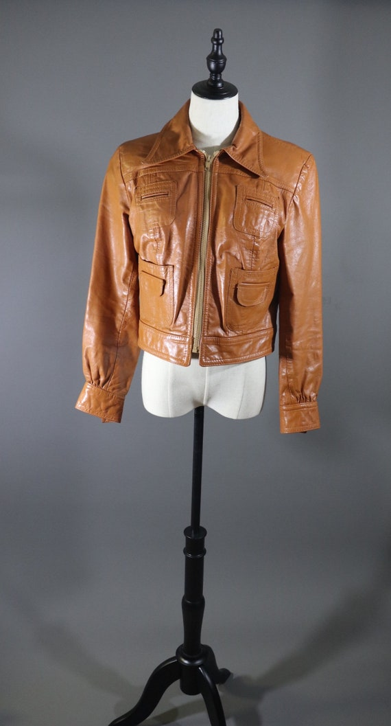 1970s Brown Leather Jacket | funky jacket hippie j