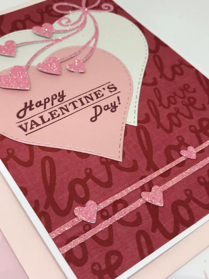 Valentines Day Gift Valentines Handmade Card Love Card Valentines Day Love You Card I Love You Card Hearts Card