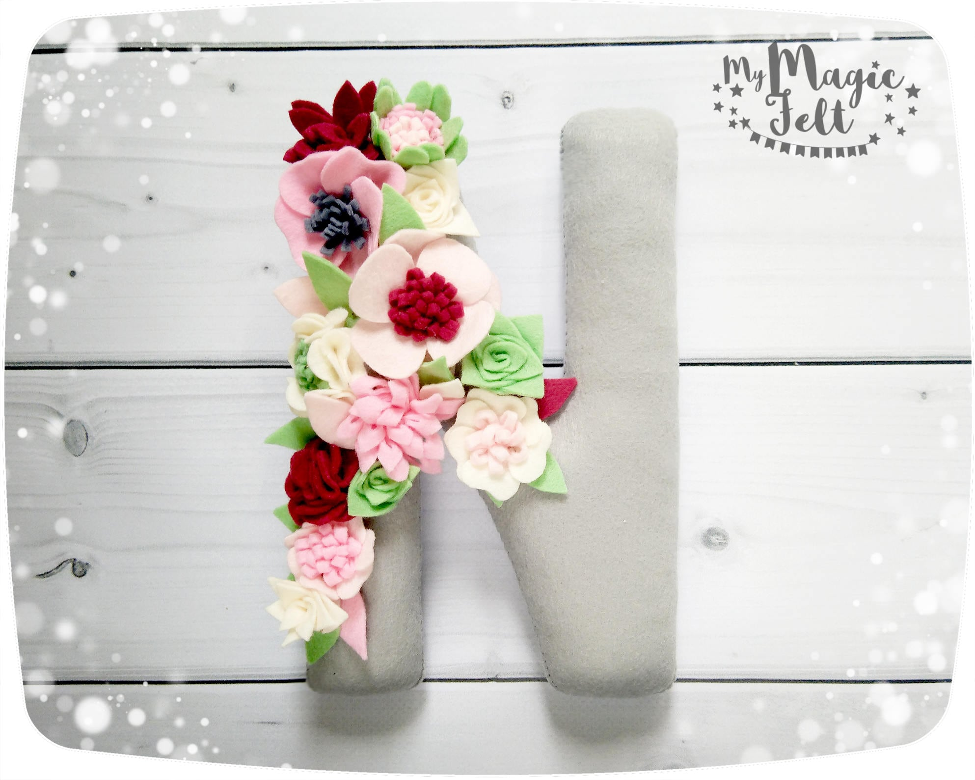 Blumen Buchstaben Kinderzimmer Dekor Floral Baby Initialen Etsy