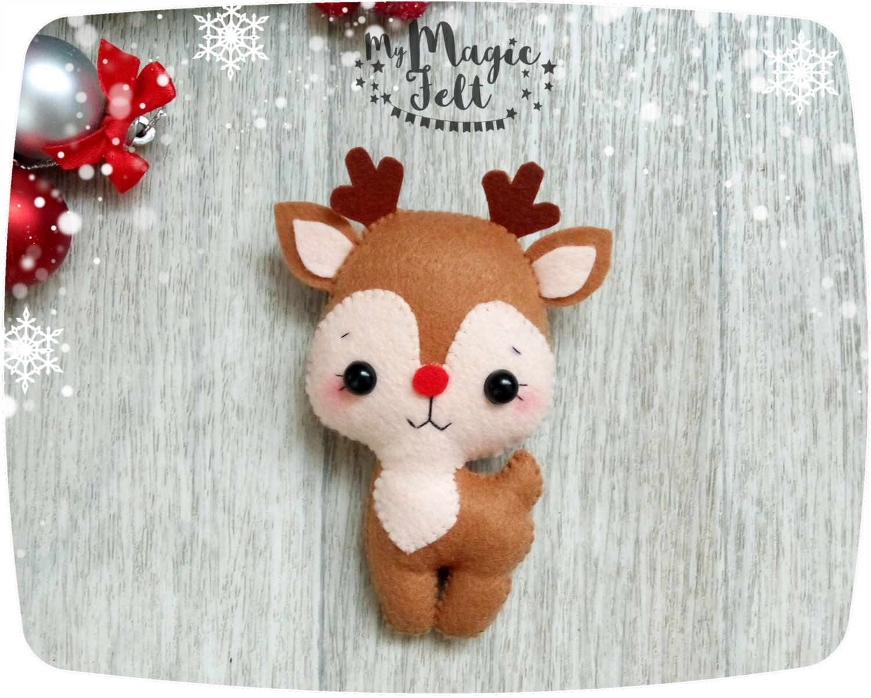 Weihnachtsschmuck Filz Rentier Weihnachten Baumschmuck Rudolph | Etsy