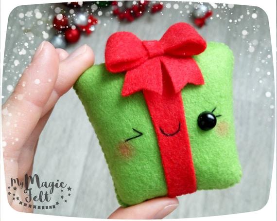 Christmas ornaments felt Gift box ornament for Christmas Tree | Etsy