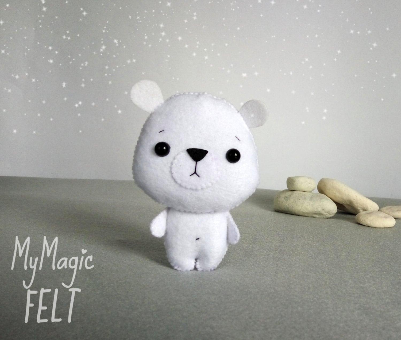 Adornos de fieltro oso polar oso blanco bosques decoraciones | Etsy