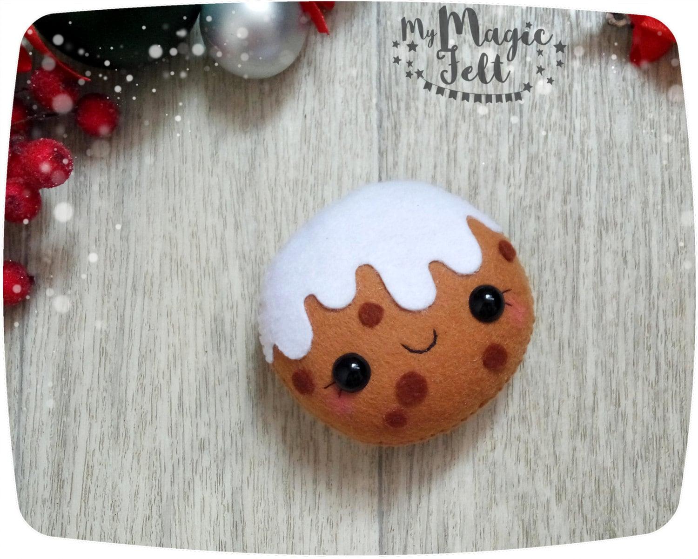 Pan de jengibre galletas adorno fieltro galleta de navidad | Etsy