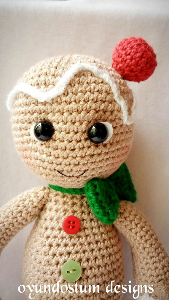 Amigurumi Gingerbread Man Pattern Etsy