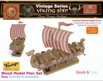 Viking Ship Toy Etsy