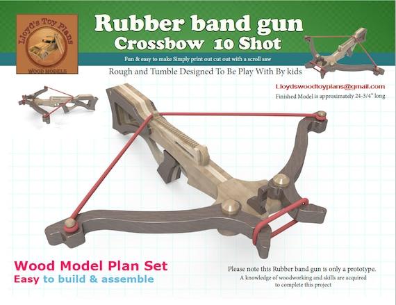 Rubber band gun crossbow