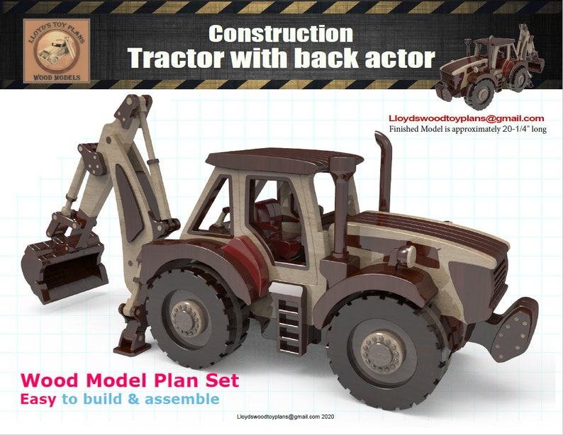 Tractor with back actor image 0