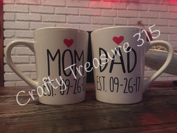 Personalized Dad Established Cup Coffee Mug