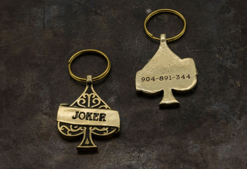 Ace of Spades PET engraved ID Tag You can personalize this tag adding your pet/'s name!
