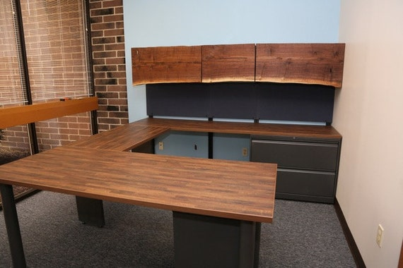 new arrivals e48b8 9b8b8 Custom U Shaped Office Desk | Industrial office furniture | Executive Desk  | Big Desk | U Shaped Desk with Hutch | U Desk | Office Desk