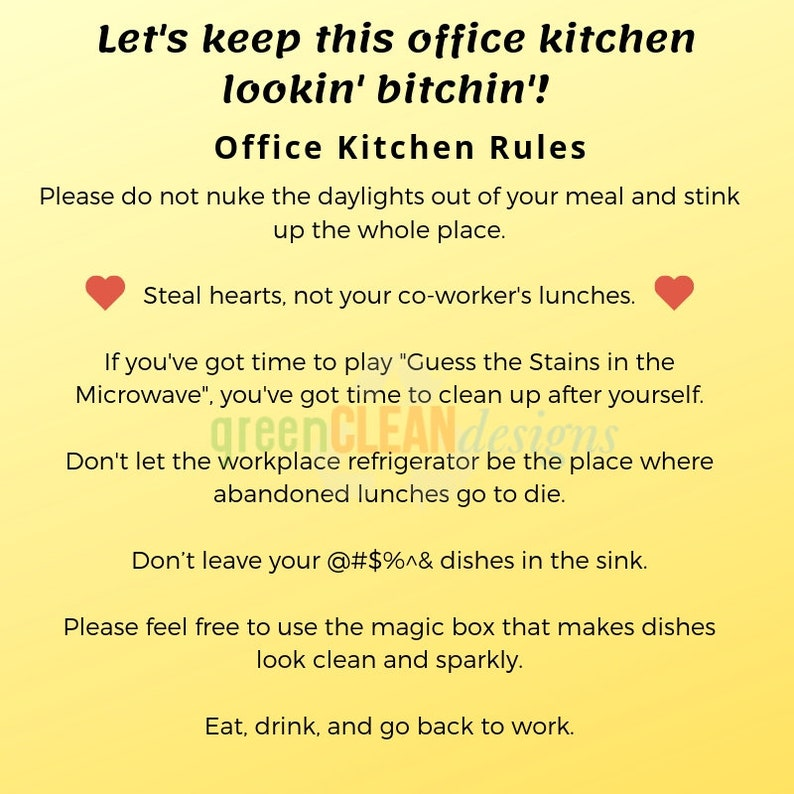 office kitchen rules signs work kitchen etiquette keep kitchen clean funny  kitchen meme office kitchen humor workplace poster clever kitchen