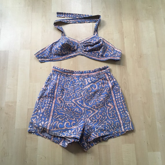 40's bikini cotton bathingsuit pinup swimsuit