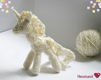 White Unicorn Amigurumi