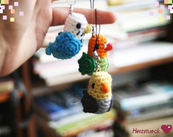 Bird Amigurumi Charms