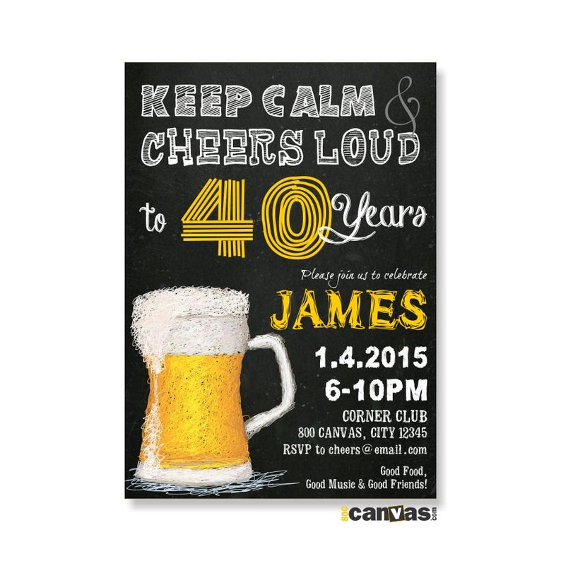Beer Invitation Cheers And Beers Birthday Invitations 50th