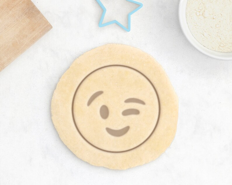 Wink Emoji Cookie Cutter  Adult Cookie Cutter Poop Emoji image 0