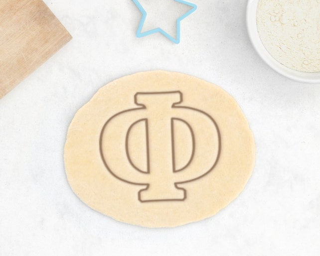 Phi Cookie Cutter Greek Letter Cookie Cutter Sorority Gift Etsy