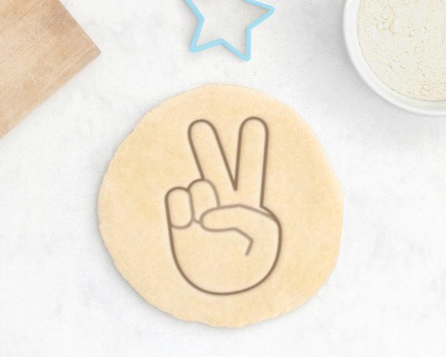 Peace Sign Cookie Cutter Peace Emoji Cookie Cutter Emoji Etsy