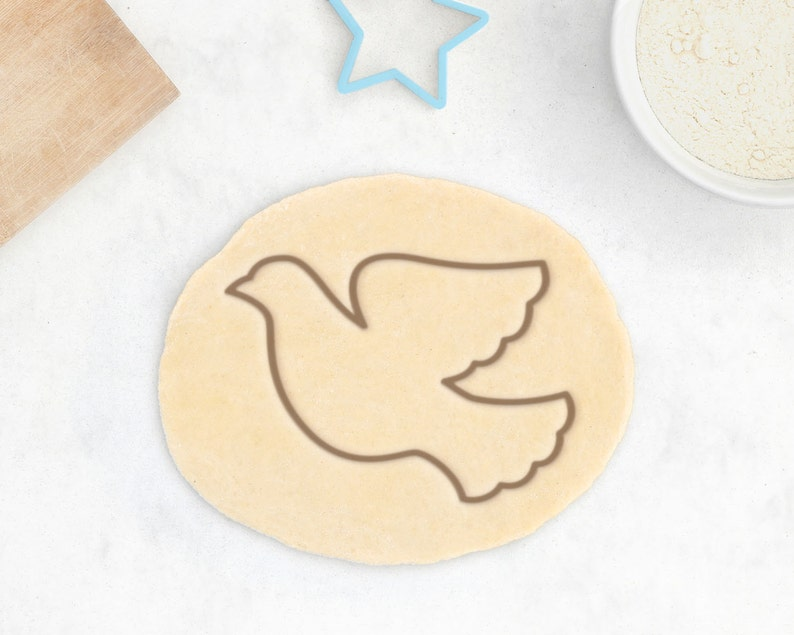 Dove Cookie Cutter - Peace Cookie Cutter PEace Dove Silhouette Bird Cookie  Cutter Baby Shower Favor Engagement Gift for Her Wedding Favor