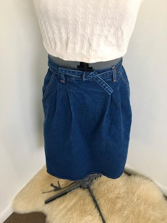 Vintage Wrangler skirt wrap skirt 1980s 1970s dark