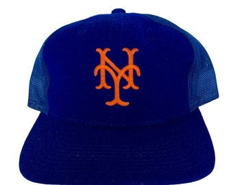 f70f3073580 Vintage New York Mets Snapback Hat by Sports Specialties Rare MLB Meshback  90s Blue