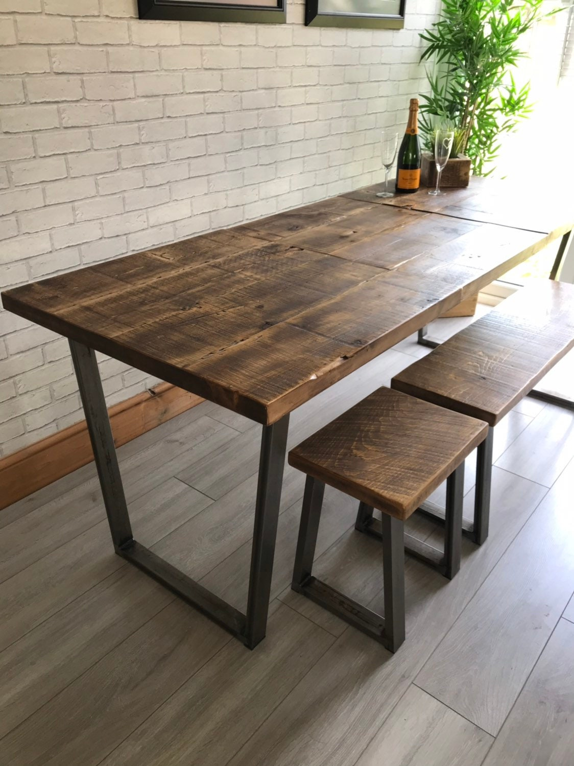 Extending Industrial Calia Dining Table