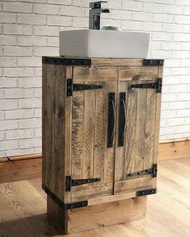 Rustic Industrial Vanity Unit