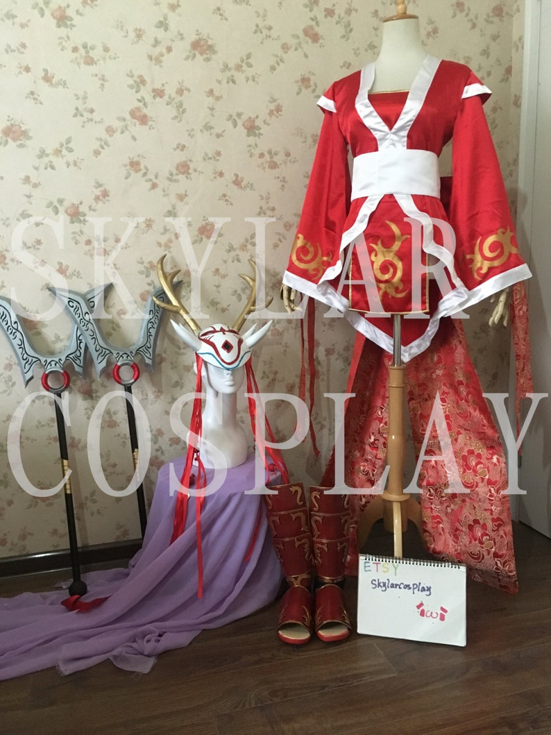 Lol League Of Legends Blood Moon Akali Cosplay Costume Weapons