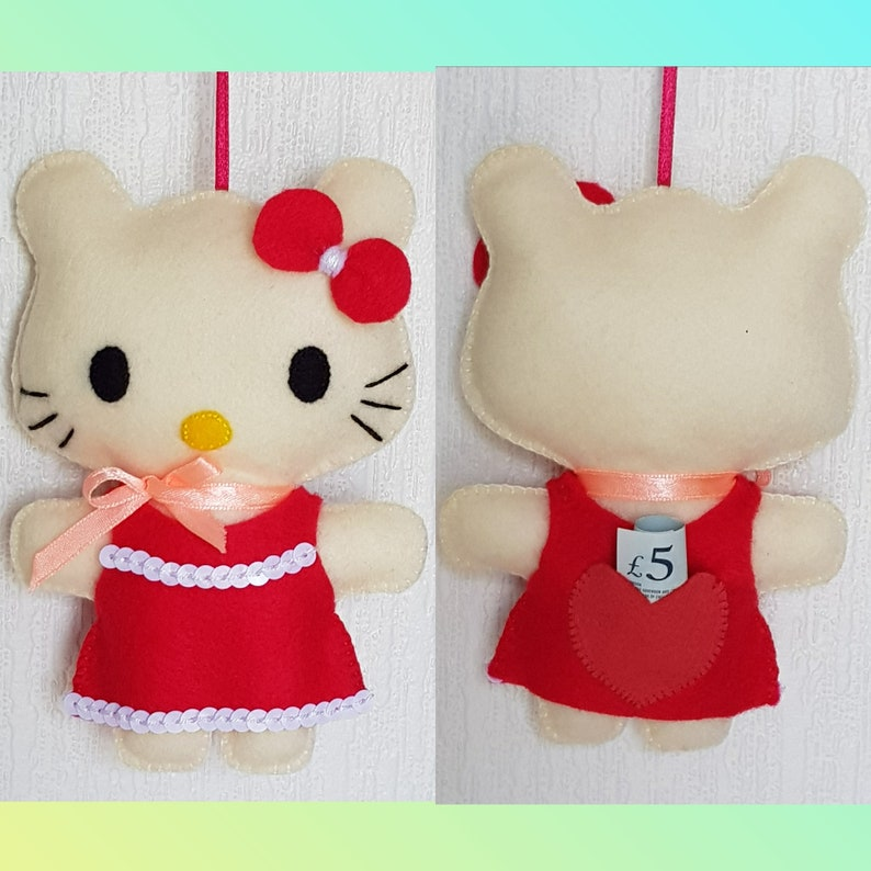 8021ee356 Tooth fairy Hello Kitty pillow handmade toy present for a girl   Etsy