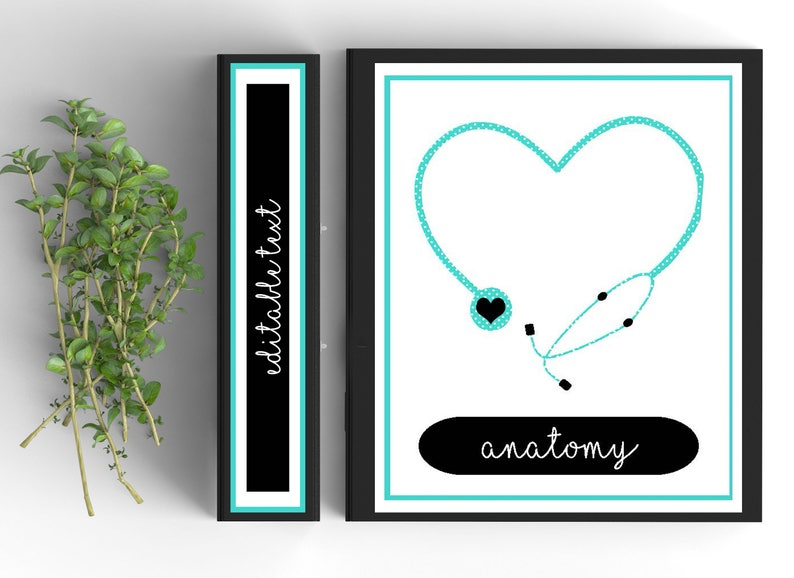 graphic regarding Printable Binder Covers for School named Clinical Faculty Editable Binder Include-Tailored Binder Inserts and Spines (8.5x11within)- Printable Binder Addresses-Editable
