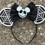 Jack Skellington Ears, Jack Skellington Mickey Ears, Jack Skellington Minnie Ears, Jack Skellington Disney Ears, Nightmare Before Christmas