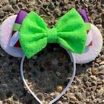 Buzz Lightyear Inspired Mickey Ears, Buzz Lightyear Toy Story Mickey Minnie Ears, Halloween Mickey Minnie Ears, Toy Story Mouse Ears