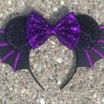 Vamperina Inspired Minnie Mickey Ears, Halloween Vampire Mickey Ears, Bat Mickey Minnie Ears, Mickey Mouse Ears, Minnie Mouse Ears