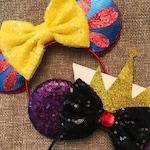 Snow White Mickey Mouse Ears Bow Headband, Princess Minnie Ears, Disney Mouse Ears, Snow White Evil Queen Mickey Ears, Snow White Ears