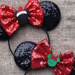 Christmas Mouse Ears, Reindeer Mouse Ears, Christmas Minnie Mouse Ears, Christmas Mickey Mouse Ears, Christmas Disney, Disney Reindeer