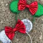 Mickey's Christmas Party Mickey Minnie Mouse Ears, Christmas Mickey Minnie Ears, Christmas Holiday Winter Disney Mouse Ears, Mickey Ears