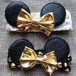 Minnie Ears Headband, Baby Mickey Ears, Baby Mouse Ears, Mickey Ears Headband, Infant Disney Headband, Infant Mouse Ears, Mommy and Me