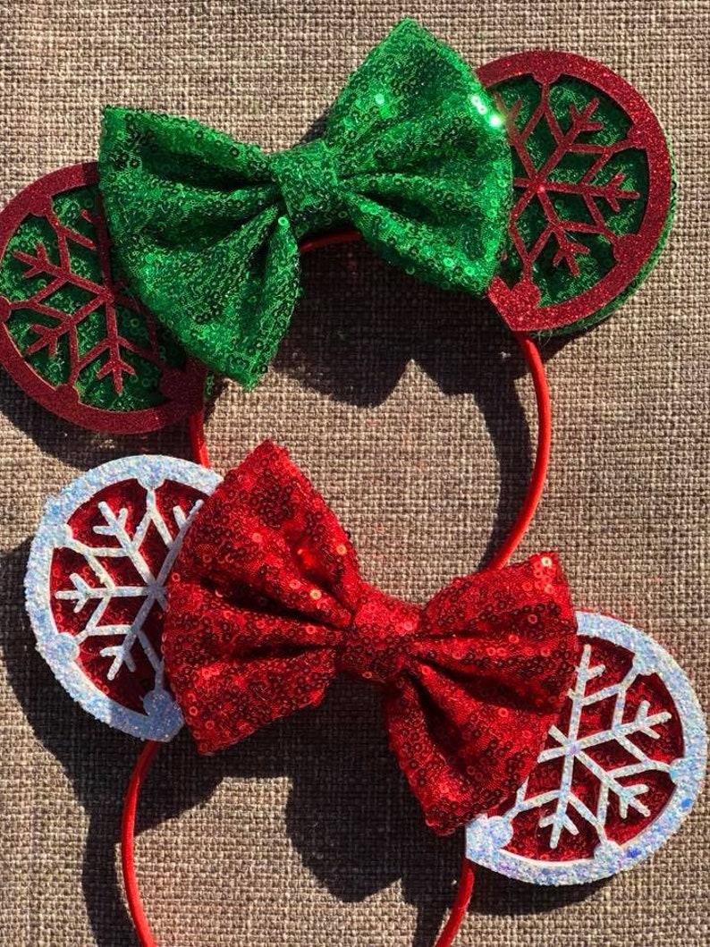 Snowflake Christmas Mickey Ears Christmas Minnie Ears Disney image 0